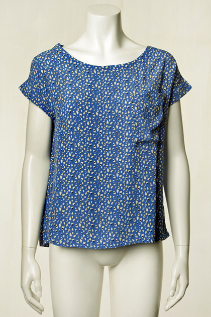 LOLLYS LAUNDRY TOP, KRYSTAL BLUE