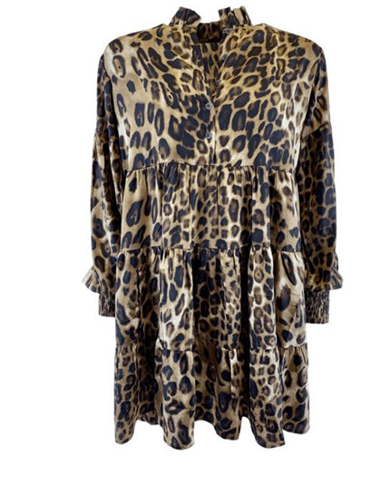 BLACK COLOUR KJOLE, LUNA GRACE BOHO LEOPARD