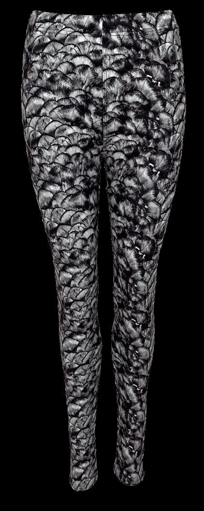 BLACK COLOUR LEGGING, ROBYN GREY FAN