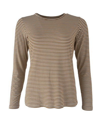 BLACK COLOUR T-SHIRT, PENNY BRASS STRIPE