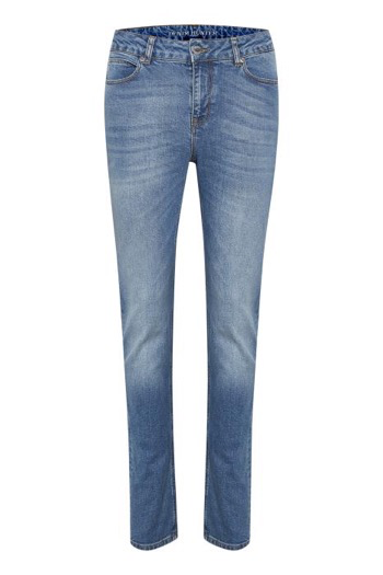 DENIM HUNTER JEANS, ELLY CUSTOM HIGH BLÅ