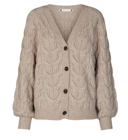 CO' COUTURE CARDIGAN, JENNESE CABLE BONE