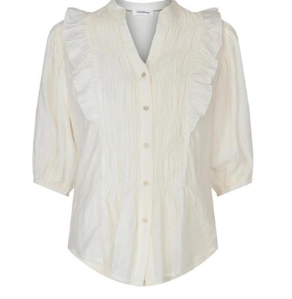 CO' COUTURE SKJORTE, AVERY SMOCK OFF WHITE
