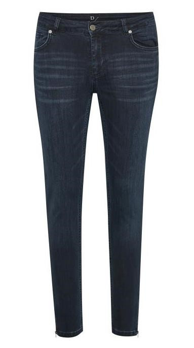 DENIM HUNTER JEANS, CELINA ZIP DARK BLUE
