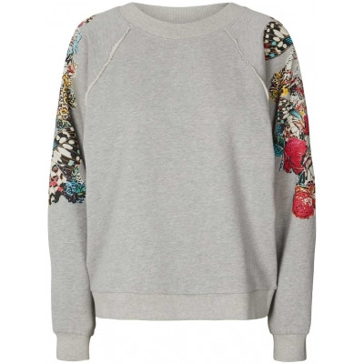 LOLLYS LAUNDRY SWEATSHIRT, TATE GREY MELANGE