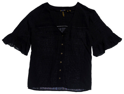 SUPERDRY BLUSE, W6010812A SORT
