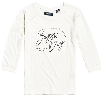 SUPERDRY T-SHIRT, G60413MU KALK
