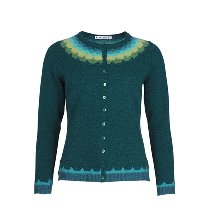 MANSTED CARDIGAN, JALEH DARK GREEN