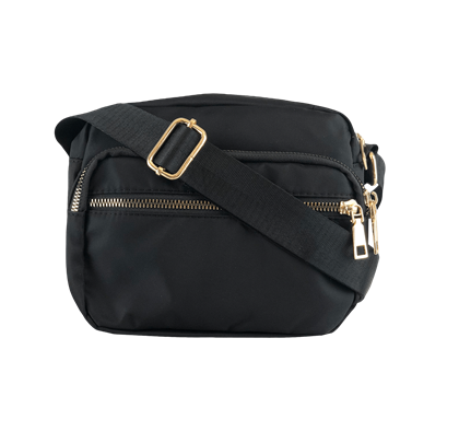 BLACK COLOUR TASKE, VIGGY NYLON BLACK