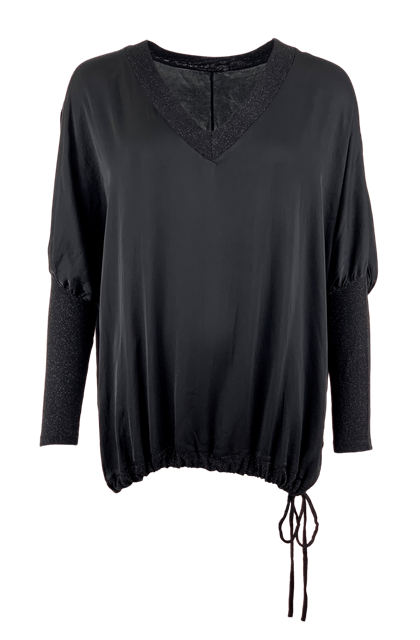 BLACK COLOUR BLUSE, SIA IS SILKY SORT