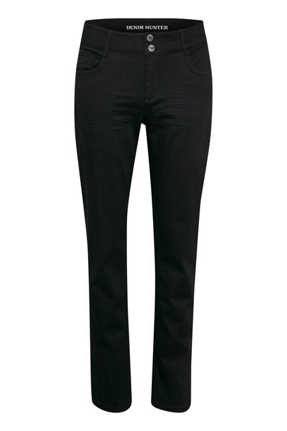 DENIM HUNTER JEANS, REGITZE CURVED BLACK