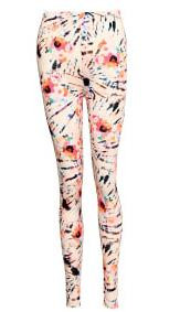 NOELLA LEGGINS, ASVILDA ORANGE/PINK SPLASH