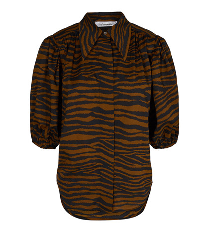 CO' COUTURE SKJORTE, JAVA TIGER BRUN
