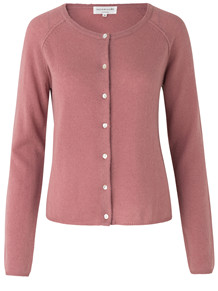 ROSEMUNDE CARDIGAN, PALE ROSE