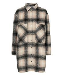 CO' COUTURE JAKKE, KELLY WOOL CHECK BONE