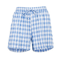 NEO NOIR SHORTS, ABBIGAIL SUMMER CHECK BLUE