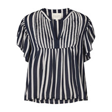 LOLLYS LAUNDRY TOP, ISABEL NAVY STRIB