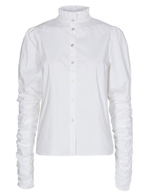 CO' COUTURE SKJORTE, SANDY POPLIN PUFF WHITE