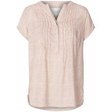 LOLLYS LAUNDRY TOP, HEATHER DOT BABY PINK