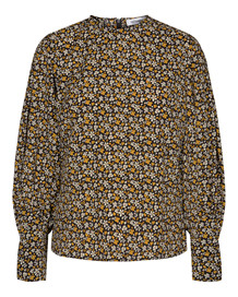 CO' COUTURE BLUSE, ALINA FLOWER MUSTARD