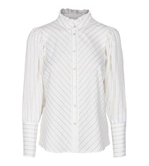 CO' COUTURE SKJORTE, DINA STRIPE OFF WHITE
