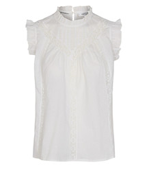 CO' COUTURE TOP, LOLA FRILL HVID