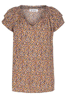 CO' COUTURE BLUSE, SUNRISE FLOWER NAVY