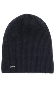 SUPERDRY HUE, CASHMERE BEANIE NAVY