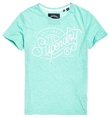 SUPERDRY T-SHIRT, G10104MT GRØN