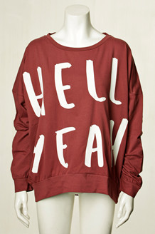 COMFY COPENHAGEN SWEATSHIRT, DREAM ON BORDEAUX