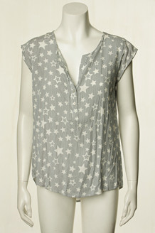CO' COUTURE TOP, DOOBIE STAR NAVY