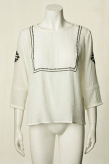 CO' COUTURE BLUSE, CATALINA HVID