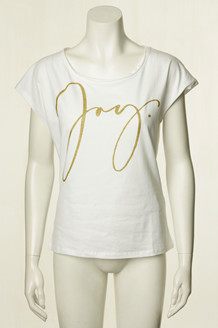 CO' COUTURE T-SHIRT, JOY HVID/GULD