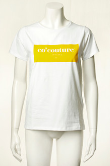 CO' COUTURE T-SHIRT, LAUREL HVID/GUL