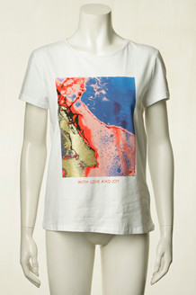 CO' COUTURE T-SHIRT, MOONWALK HVID