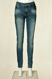 DENIM HUNTER JEANS, CASIMA CURVED BLÅ