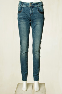 DENIM HUNTER JEANS, REEF CURVED BLÅ