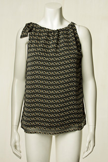NEO NOIR TOP, LINEA SORT/BLOMST