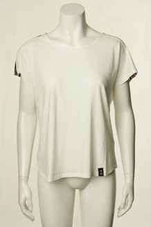 PLUS FINE T-SHIRT, SIBYL OFF WHITE