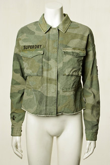 SUPERDRY JAKKE, UTILITY CROP G50004VQ WASHED CAMO