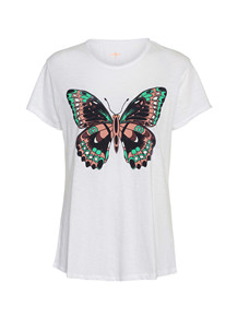 COSTA MANI T-SHIRT, BUTTERFLY HVID