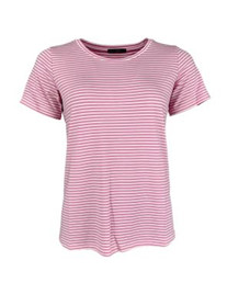 BLACK COLOUR T-SHIRT, POLLY S/S CANDY ROSE