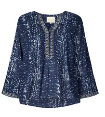LOLLYS LAUNDRY BLUSE, BENNY BLUE