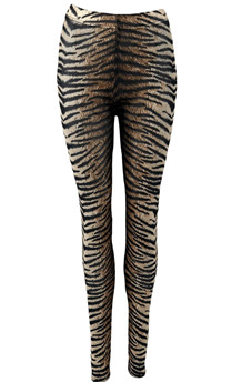 BLACK COLOUR LEGGINS, ANNIE MESH TIGER