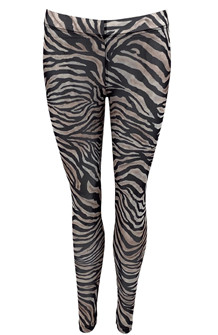 BLACK COLOUR LEGGINS, ANNIE MESH ZEBRA