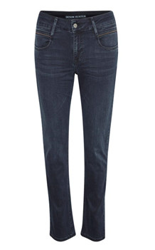 DENIM HUNTER JEANS, MONZA CURVED DARK BLUE WASH