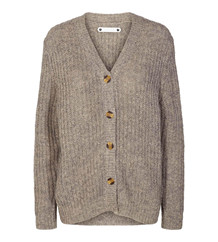 CO' COUTURE CARDIGAN, DENIRO RIB GRÅ