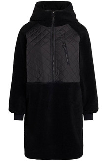 CO' COUTURE ANORAK, TEDDY BLACK