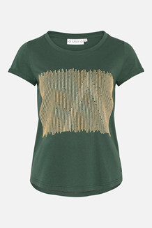 AMOV T-SHIRT, ALMA GOLDEN GRØN
