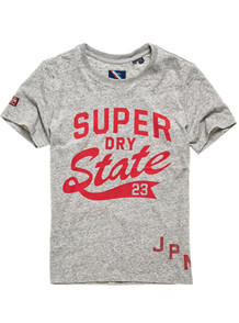 SUPERDRY T-SHIRT, W1010220A GRÅ